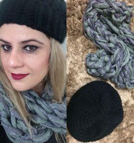 Gorro Touca Caida De Croche - Encontre mais belezas mil no site ... 9907e222720