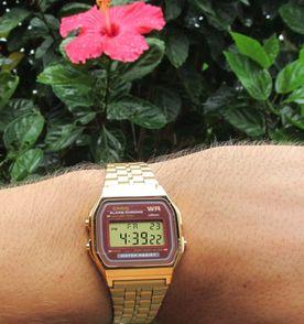 e4f1dd5cf40 relógio casio vintage a159wgea-5df dourado original