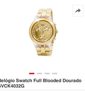 2c1606562b9 Relogio Swatch Branco Full Blooded - Encontre mais belezas mil no ...