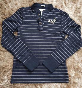 4b32203acc camiseta abercrombie malha manga longa infantil azul marinho g original