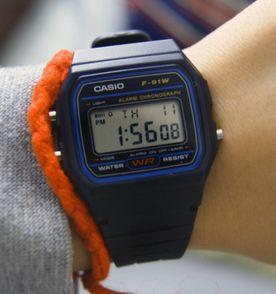 1b1f54931a1 relogio casio f-91w-1 digital retrô vintage preto calendario alarme luz  cronometro frete