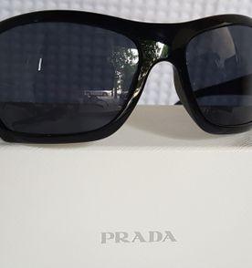 41bbe7641e4f2 Oculos Prada Acetato Preto Gatinha   Óculos Feminino Prada Nunca ...