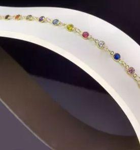 Jogo De Pulseiras Coloridas Pedras - Encontre mais belezas mil no ... c68fce4e6b