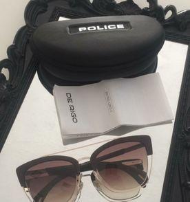 óculos de sol marrom lentes degrade police original com estojo original 7de59ba830