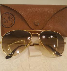 óculos aviador ray ban degrade original rb3025 marrom com armação dourada b3c391b712