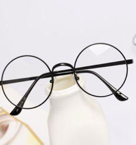 Armação Óculos Estilo Harry Potter Em Metal Preto Com Lentes Redondas 5mm 0b10207e2b