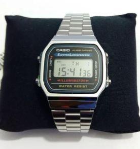 7f2b5d71675 relógio casio aço inoxidável vintage prata
