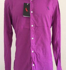 camisa social masculina reserva original picapau manga longa algodão lisa tam  gg cor uva vinho roxa 5b62707f50a