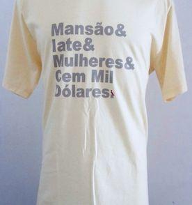 camisa camiseta regata reserva masculina picapau estampa frases algodão  básica tam gg cor amarela e0ea46eb4d3