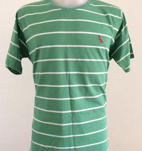 camisa camiseta regata reserva masculina picapau listrada algodão básica  tam gg cor verde e branca a16d9df9208