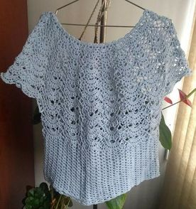 Receita Blusa De Croche Feminina - Encontre mais belezas mil no site ... 55220abba73
