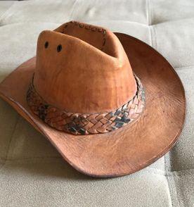 chapéu de couro legítimo caramelo - cowboy   country   peão 5d2750e2d98