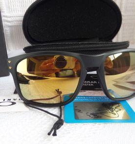 Óculos Oakley Holbrook Shaun White 24k Gold Preto Fosco Polarizado - Novo 5bf49a533d