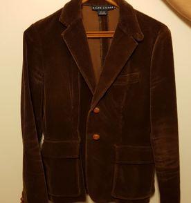 blazer de veludo marrom original ralph lauren pouquíssimo usado e em  perfeito estado 460b5cb2224