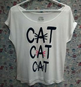 Blusa Yin Yang Cat  e7c2d562cb334