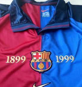 camiseta do barcelona do centenário (1899 - 1999) original! de colecionador  - relíquia f5f036009f6fb