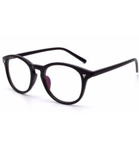 ea1bf0a4cd10b Armação Oculos Grau Feminino Redondo Acetato Black   Óculos Feminino ...
