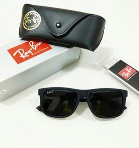 óculos ray ban justin 4165 polarizado preto fumê masculino e feminino 1474f0ddd6