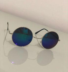 Óculos Redondo Hippie - Lente Colorida - Verde   Óculos Feminino ... c207364224