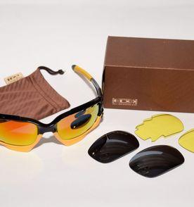 oakley jawbone preto e amarelo, 3 pares de lentes a802ab8903