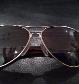 Óculos Estilo Aviador Caramelo   Óculos Feminino Rayban Usado ... c87a2408f3