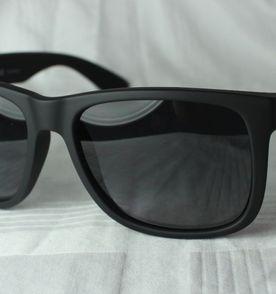 óculos de sol ray ban justin 4165 polarizado preto fosco unissex importado 08eacde61d