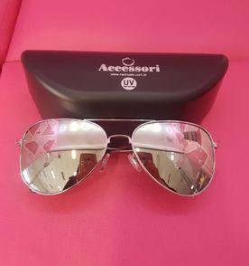 Óculos Estilo Aviador Rosa Espelhado   Óculos Feminino Guess Nunca ... 798fab5896
