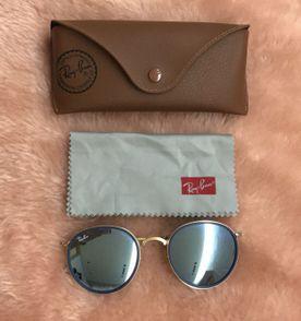 Rayban Clubmaster Espelhado Azul   Óculos Feminino Rayban Usado ... 0c1e8c3312