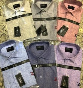 camisa social estampada ricardo almeida manga longa slim tam.p 68a16387f6575