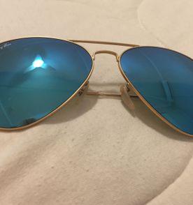 Oculos Ray Ban Aviador Azul - Encontre mais belezas mil no site ... 2496637d3c