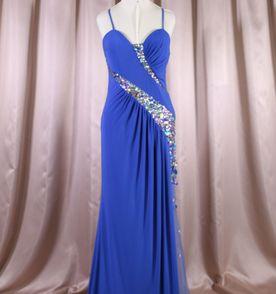 Vestido azul bic bordado