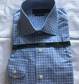 Camisa Polo Manga Comprida Ralph Lauren Listrada Azul E Branca ... 48325f05edf