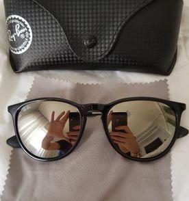 Óculos Feminino Rayban Original, Modelo Erika de Veludo Vermelho com ... cc5db82da6