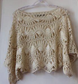 Top Cropped De Croche - Encontre mais belezas mil no site  enjoei ... 88cfffafae2