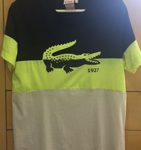 afa1bf0187e5b Camiseta Lacoste Live Branca Estampa   Camiseta Masculina Lacoste ...