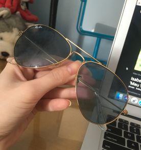 Rayban Aviador   Óculos Feminino Ray Ban Nunca Usado 27383082   enjoei bb690963a3