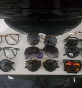 lote 10 óculos de sol novos - redondo - gatinho - espelhado -armação -  liquidação 4a47665da8