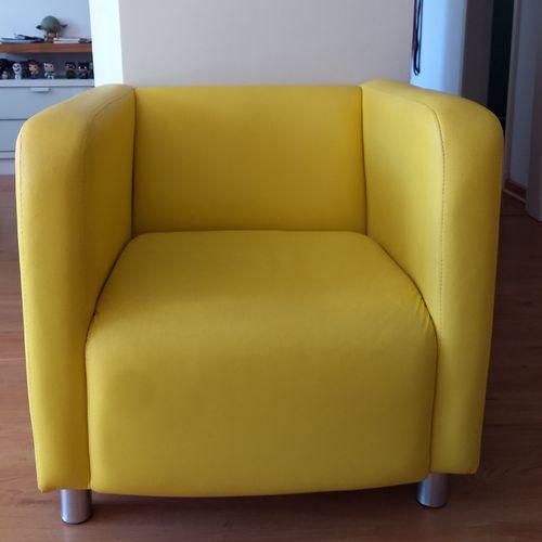 poltrona amarela 41095201