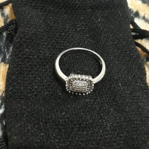 anel solitario delicado em ouro branco 18k s925 com pedras de zirconia cristal cravejada rodeada 44666998