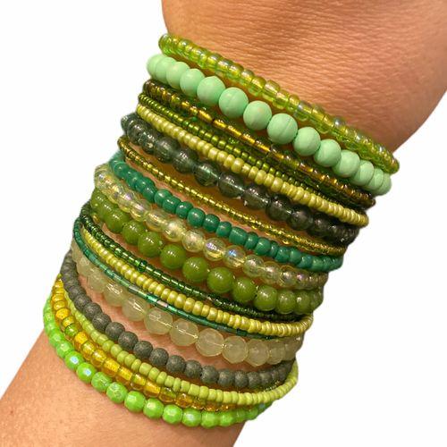 bracelete pulseira de micanga verde que eu quero ver 45214976