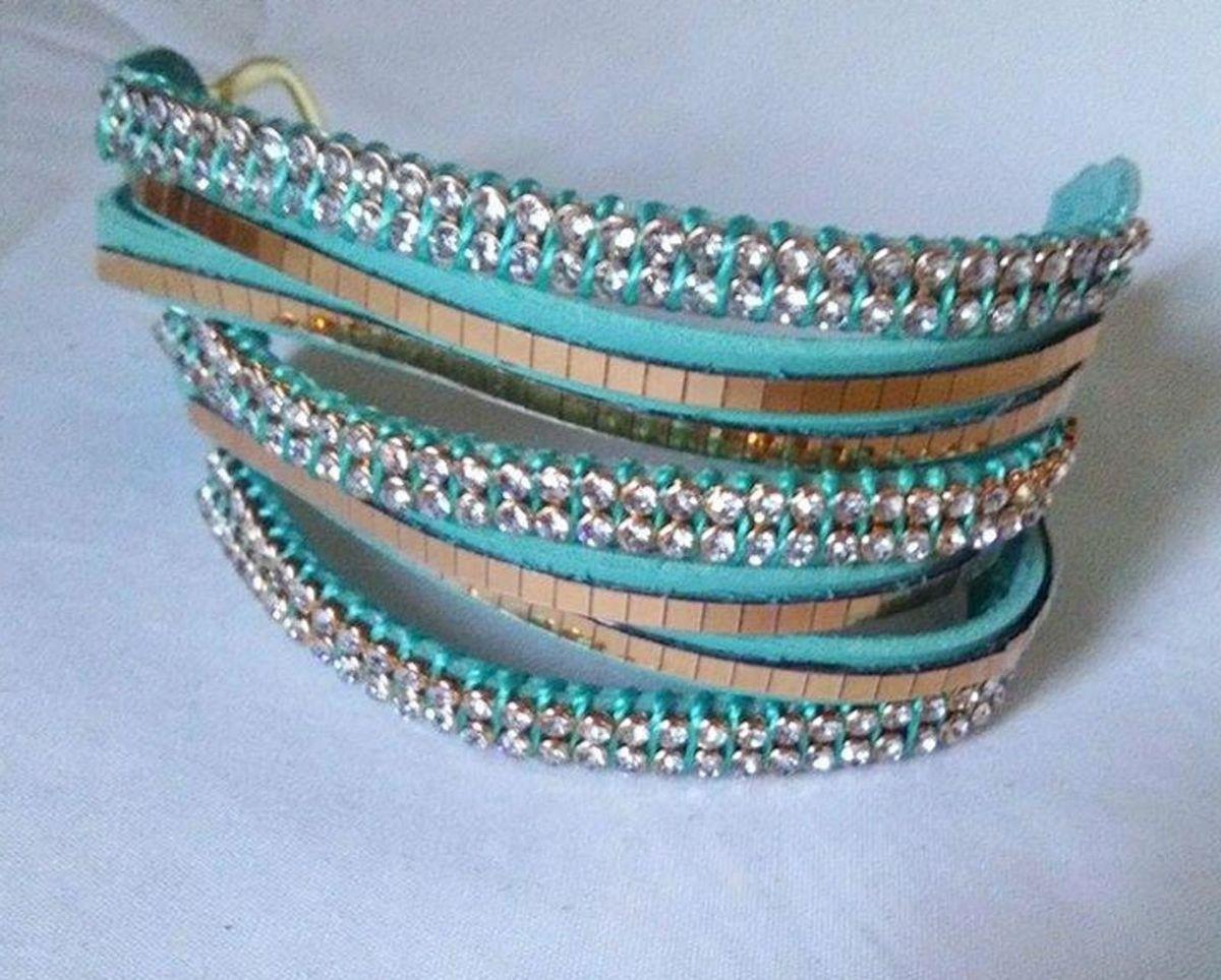 pulseira aqua - bijoux renata c
