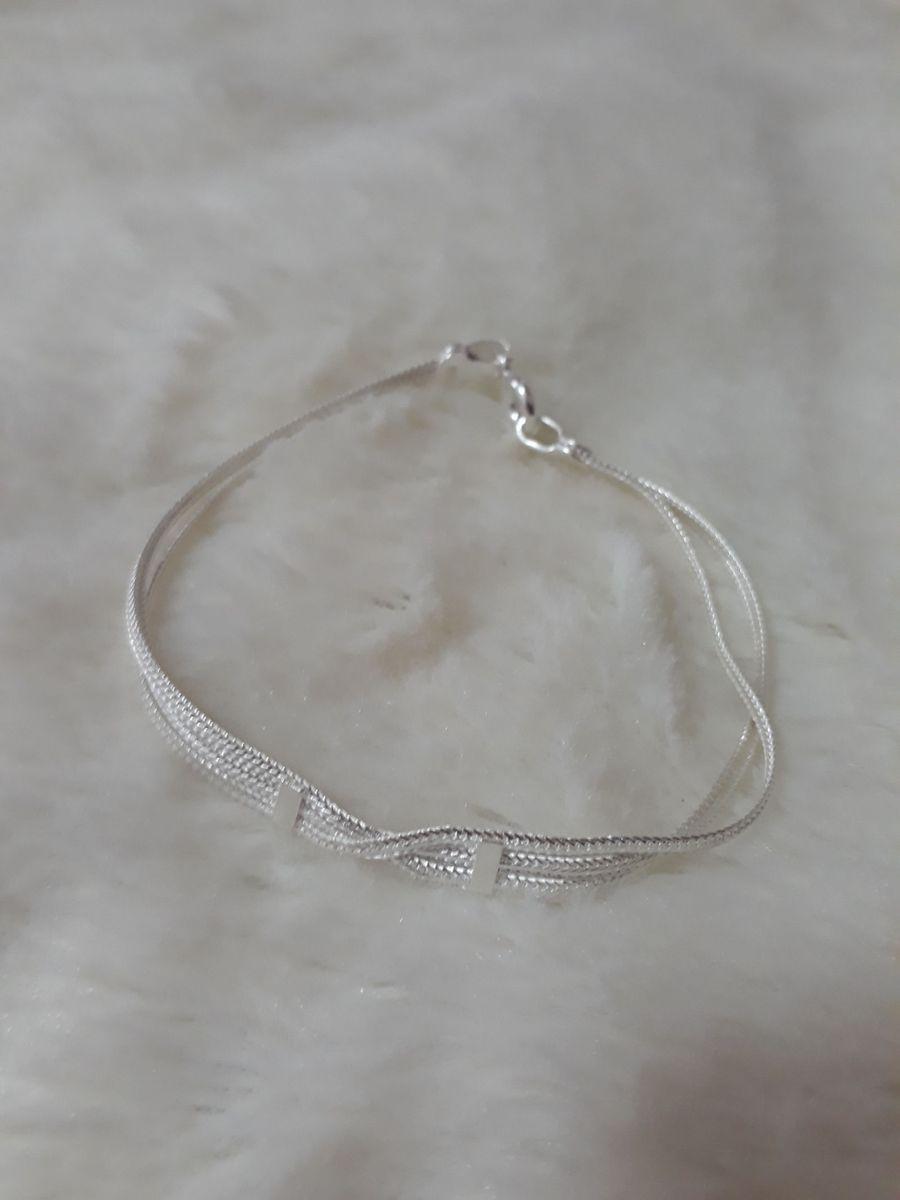 bdb44a49aa5 pulseira prata 925 delicado com nó - jóias prata-925