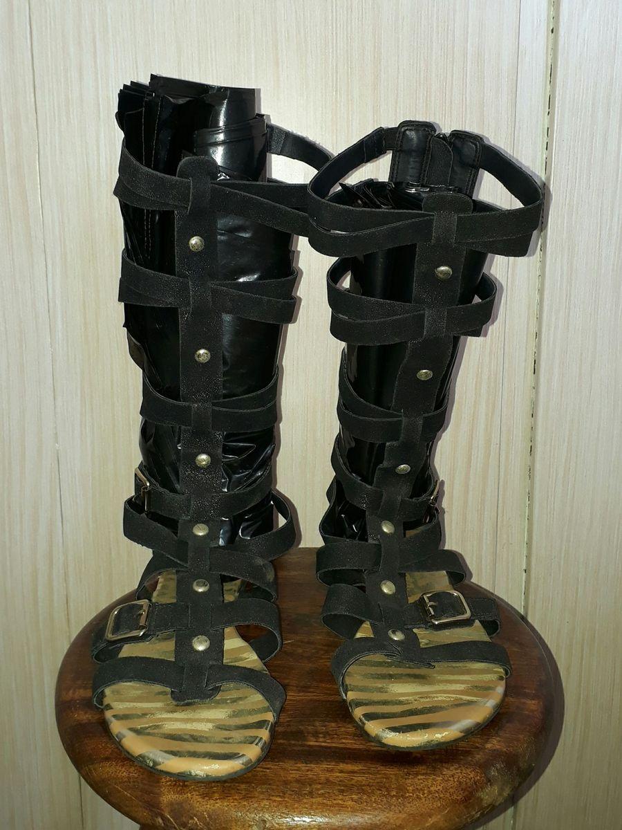 b91c3f06e9 rasteirinha gladiadora dakota preta - rasteirinha dakota