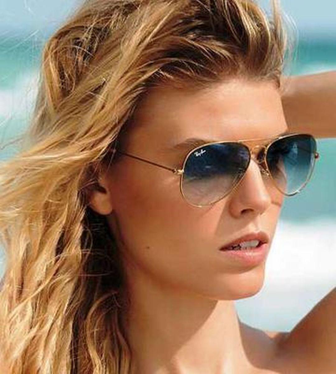 Ray Ban Aviador Azul 0rb3025 183 r5 55-14   Óculos Feminino Ray Ban ... 98c94380b9