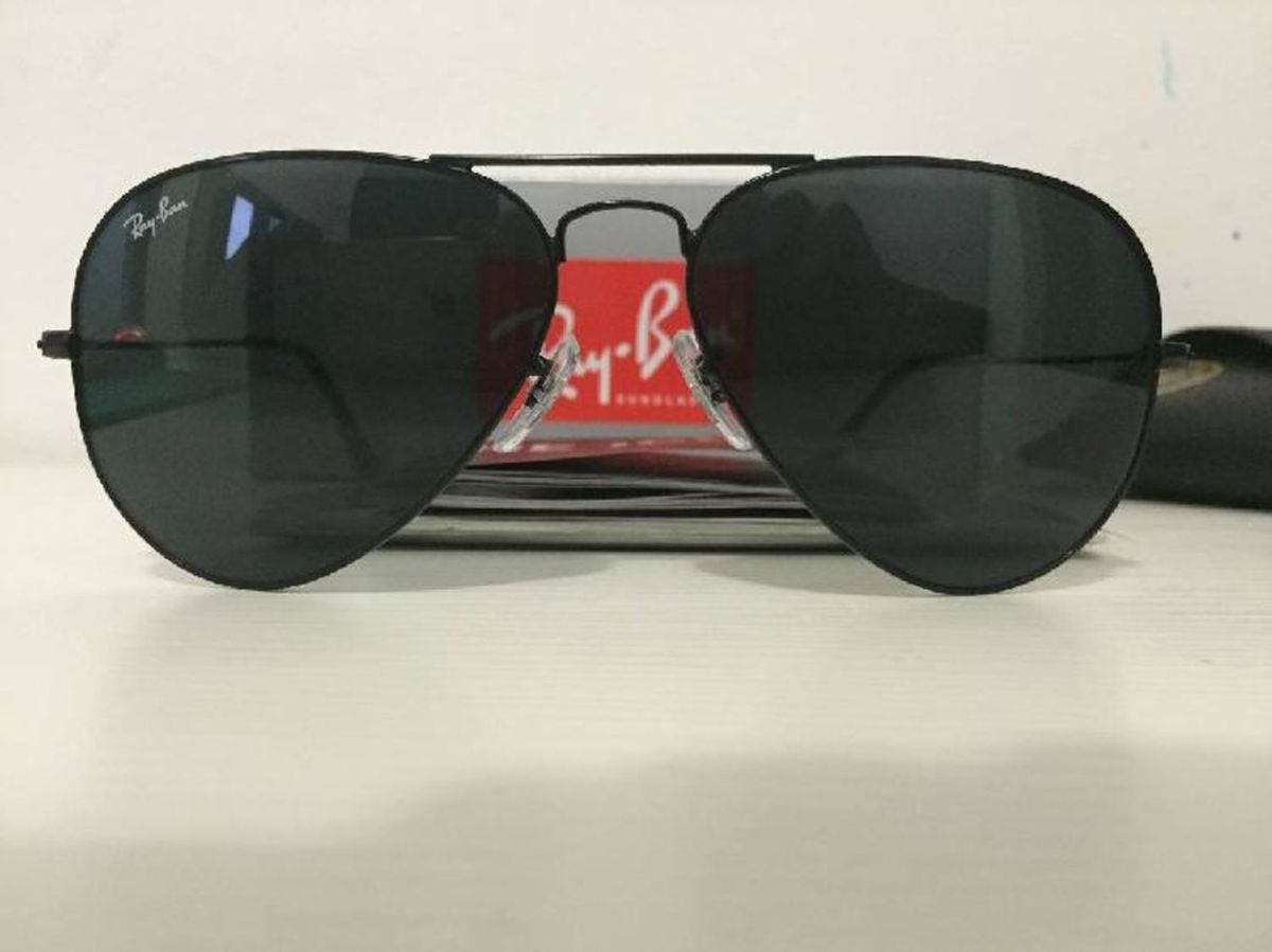 6c85faf99a88d ray ban aviador lentes preto fumê - óculos ray-ban