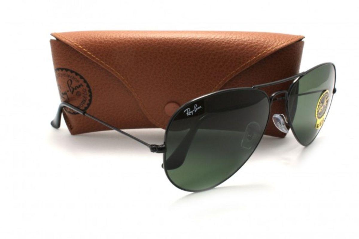 Ray-ban Aviador Original Preto G15 Grande   Óculos Masculino Ray Ban ... a3a7fd1065
