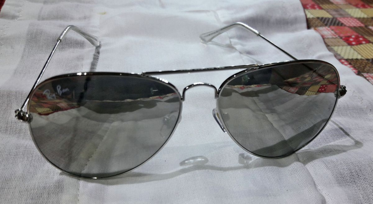 ray ban aviador rb3028 lente espelhado armaçao prata - óculos ray-ban 0f3e504245