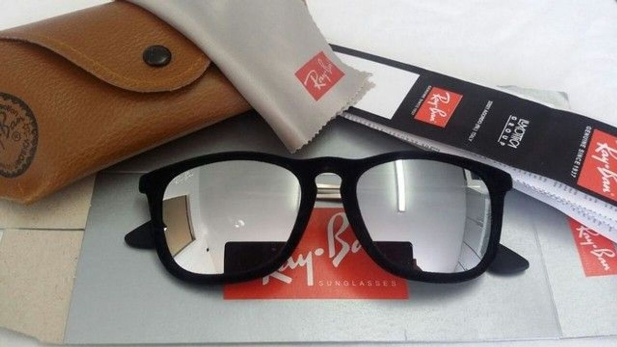 ray ban chris prata espelhado - óculos ray-ban