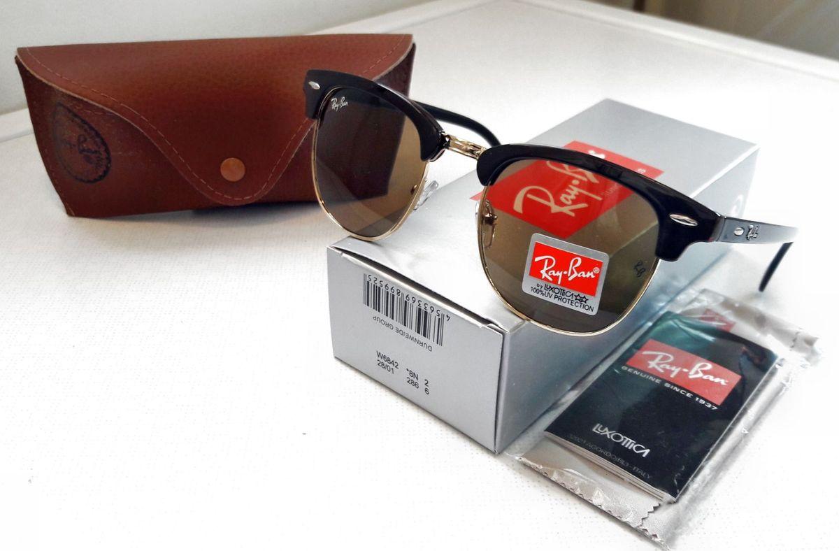 ray ban clubmaster marrom - óculos ray-ban