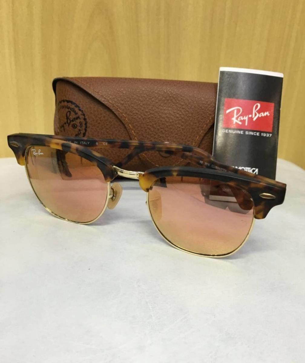 bcb472b8829cc ray-ban clubmaster original tartaruga rosa espelhado - óculos ray-ban